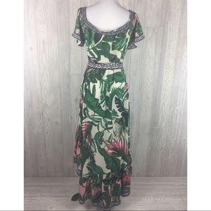 05332a47f3 Flying Tomato Dresses - Flying Tomato Medium Palm Print Dress Hi Lo